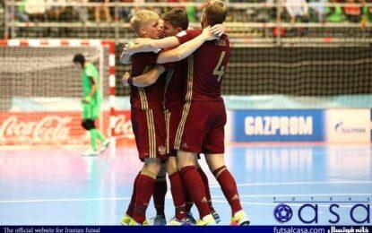 مرحله یک هشتم نهایی جام جهانی ۲۰۲۱؛ روسیه به مرحله بعد رقابت های جام جهانی فوتسال صعود کرد