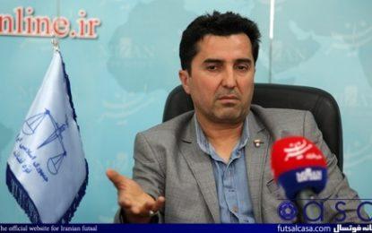 ناظم الشریعه : با برگزاری پلی آف تمرینات تیم ملی کم میشود/امسال سال سختی برای فوتسال ما است