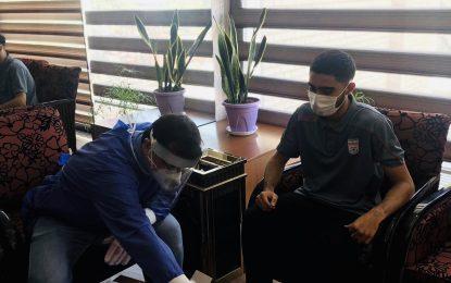 گزارش تصویری از تستگیری کرونا از گروه دوم بازیکنان دعوت شده به تیم فوتسال جوانان