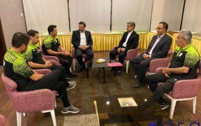دیدار دو عضو هیات رئیسه با کادر فنی تیم ملی فوتسال
