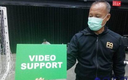 آزمایش سیستم کمک داور ویدیویی پیش از شروع جام جهانی فوتسال