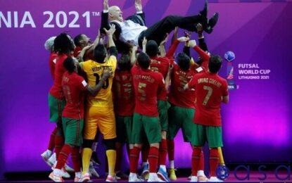 بازتاب نخستین قهرمانی پرتغال در جام جهانی فوتسال/ «این ما هستیم»+عکس